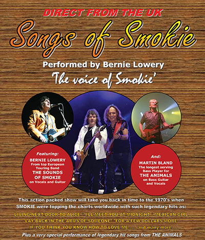"Songs of Smokie ( Due from the band ""Smokie"""